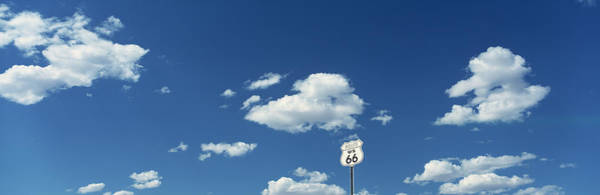 Historical Marker Photograph - Clouds Route 66 Isleta Nm Usa by Panoramic Images