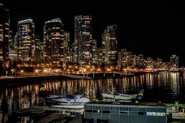 Photograph - Coal Harbour By Night by Ross G Strachan
