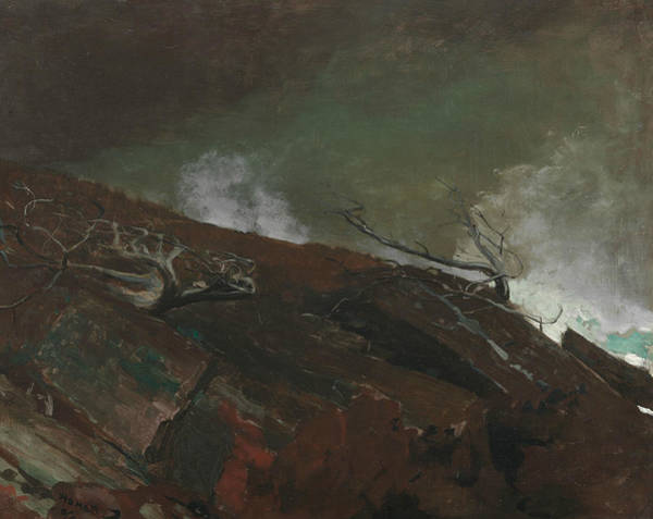 Wall Art - Painting - Coast Of Maine by Winslow Homer