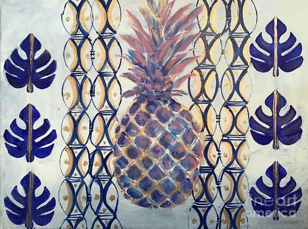 Wall Art - Painting - Coastal Pineapple by Lisa Gilyard Rivers