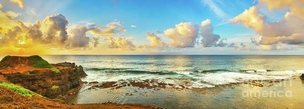 Wall Art - Photograph - Coastal View At Sunrise. Panorama by MotHaiBaPhoto Prints