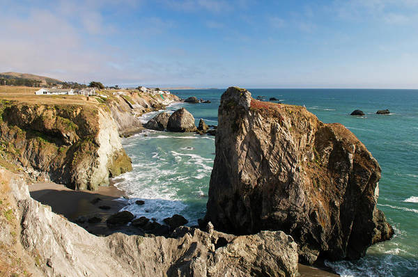 Sonoma County Photograph - Coastline In Sonoma Coast State Park By by Anders Blomqvist