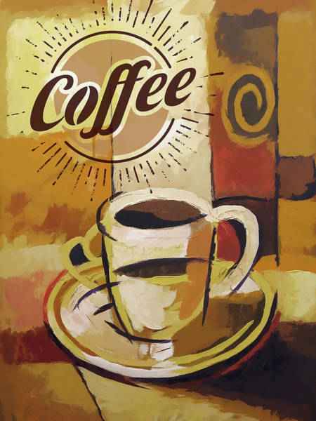 Painting - Coffee Poster by Lutz Baar