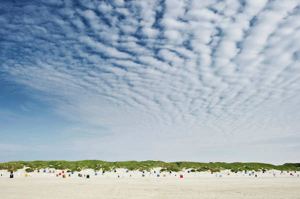 Wall Art - Photograph - Colorful Beach Chairs, Sandbank Near by Daniel Schoenen / Look-foto