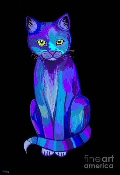 Wall Art - Digital Art - Colorful Calico Cat by Nick Gustafson