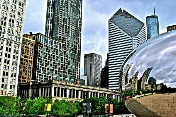 Wall Art - Photograph - Colorful Cloud Gate by Frozen in Time Fine Art Photography