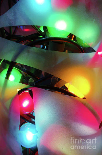 Wall Art - Photograph - Colorful Fairy Lights by Tom Gowanlock