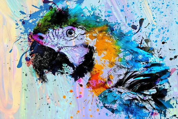 Wall Art - Painting - Colorful Parrot by ArtMarketJapan