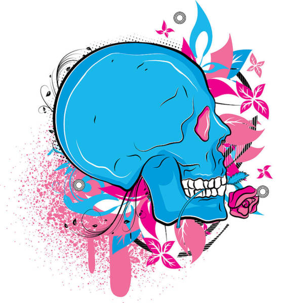 Digital Art - Colorful Skull by Passion Loft