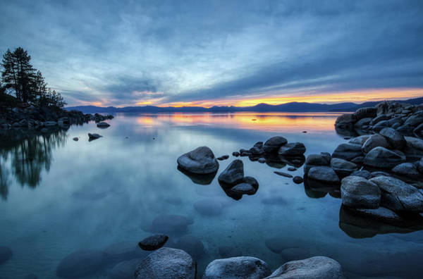 Photograph - Colorful Sunset At Sand Harbor by Andy Konieczny