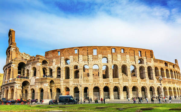 Amphitheater Wall Art - Photograph - Colosseum, Rome, Italy by William Perry