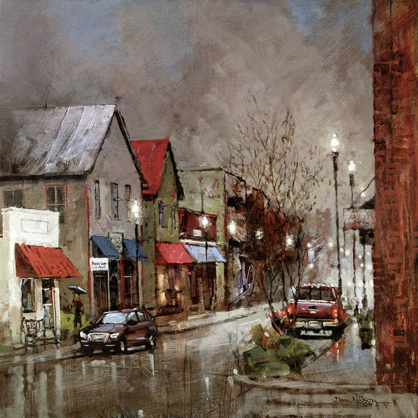 Wall Art - Painting - Columbia Rain by Dan Nelson