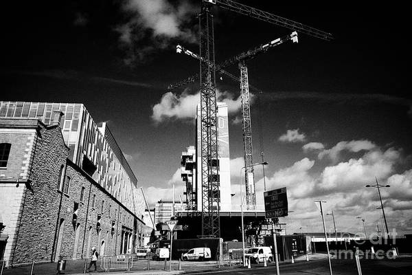 Wall Art - Photograph - construction underway on the EXO building dublins highest office building Dublin Republic of Ireland by Joe Fox