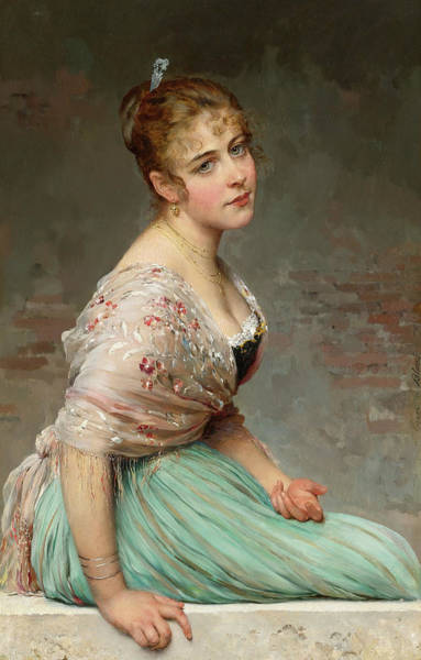 Wall Art - Painting - Contemplation by Eugen von Blaas