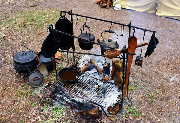 Wall Art - Photograph - Cooking In The 1800s  by David Lee Thompson