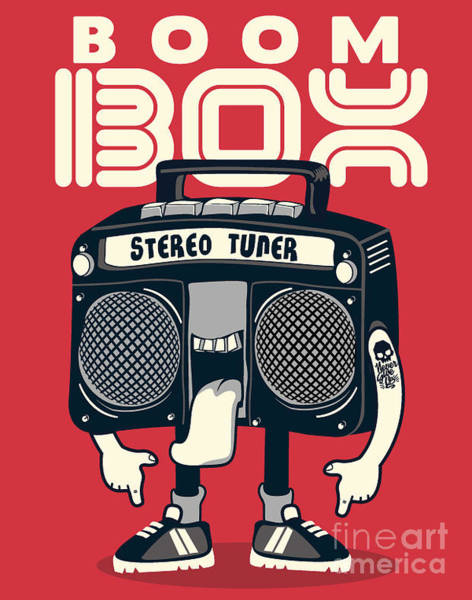 Sounds Wall Art - Digital Art - Cool Radio Character Vector Design For by Braingraph