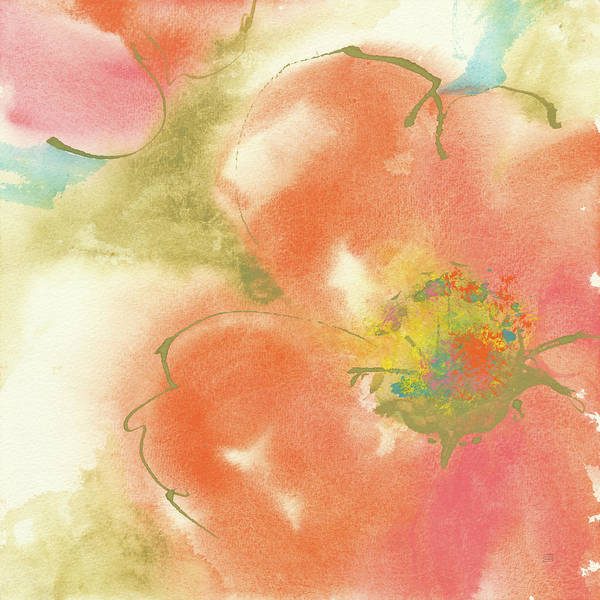Wall Art - Painting - Coral Poppy I by Chris Paschke