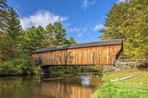 Wall Art - Photograph - Corbin Covered Bridge Newport New Hampshire by Edward Fielding