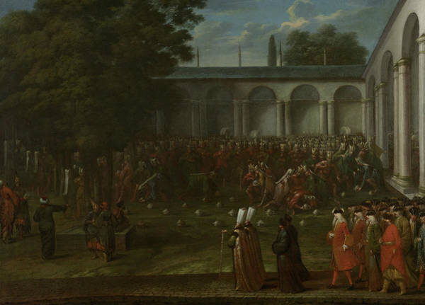 Painting - Cornelis Calkoen On His Way To His Audience With Sultan Ahmed IIi by Jean Baptiste Vanmour