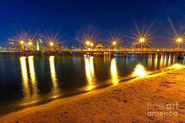Photograph - Coronado Pier By Night by Benny Marty