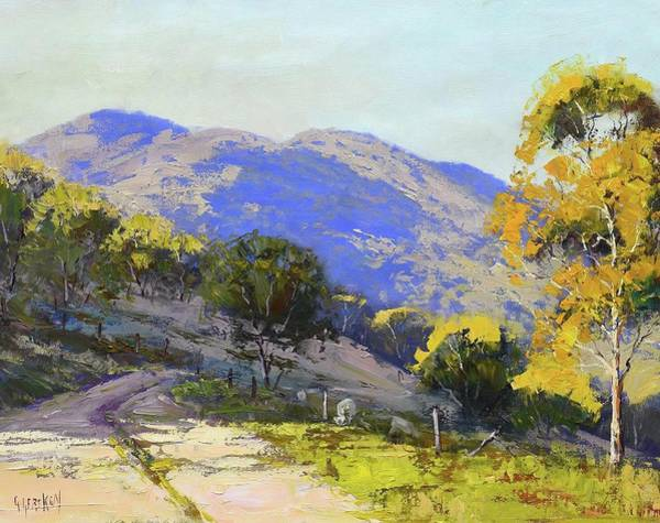Wall Art - Painting - Country Road Australia by Graham Gercken