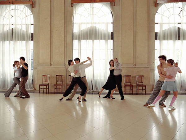 Learning Photograph - Couples Dancing During Tango Lesson by Javier Pierini