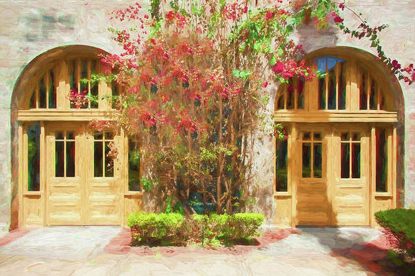 Lightner Museum Photograph - Courtyard Doors St Augustine 002 by Rich Franco