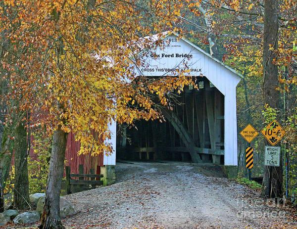 Wall Art - Photograph - Cox Ford Bridge, Indiana by Steve Gass