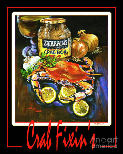 Painting - Crab Fixin's by Dianne Parks