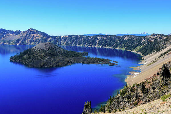 Photograph - Crater Lake View 1 by Dawn Richards