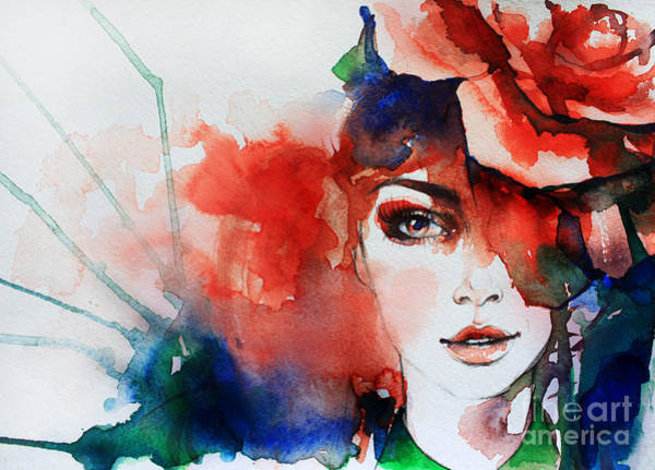 Wall Art - Digital Art - Creative Hand Painted Fashion by Anna Ismagilova