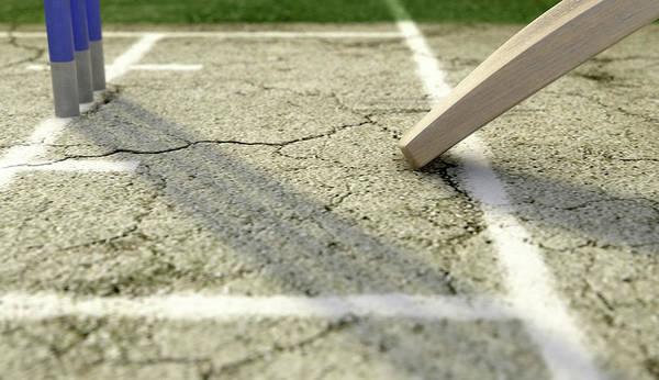 Wall Art - Digital Art - Cricket Pitch Ball And Wickets by Allan Swart