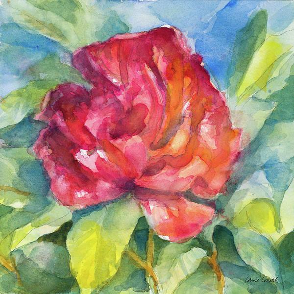 Crimson Painting - Crimson Peony by Lanie Loreth