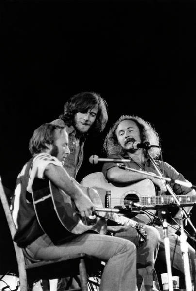 Coliseum Photograph - Crosby, Stills, Nash & Young On Stage by Steve Morley