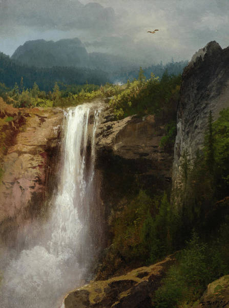Wall Art - Painting - Crystal Cascade, Yellowstone National Park by Hermann Herzog