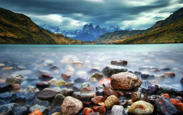 Turquoise Lake Photograph - Cuernos Del Paine by Thienthongthai Worachat