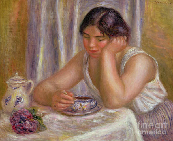 Wall Art - Painting - Cup Of Chocolate by Pierre Auguste Renoir
