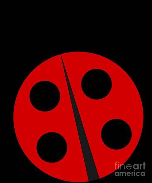 Wall Art - Digital Art - Cute Ladybug by Flippin Sweet Gear