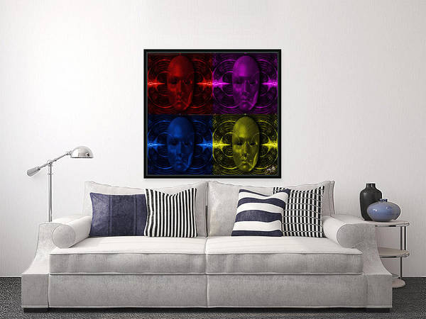 Digital Art - Cyliner-pop-of-4 by Swedish Attitude Design