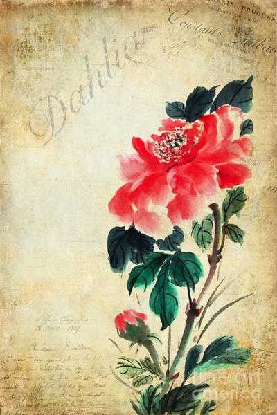 Wall Art - Painting - Dahlia by John Edwards