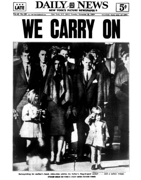 Front Page Photograph - Daily News Front Page by New York Daily News Archive