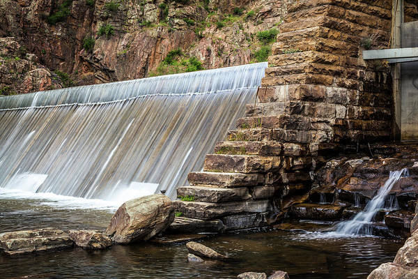 Photograph - Dam In Waterton Canyon, Colorado by Jeanette Fellows