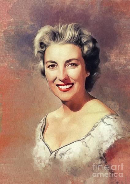 Wall Art - Painting - Dame Vera Lynn, Music Legend by John Springfield