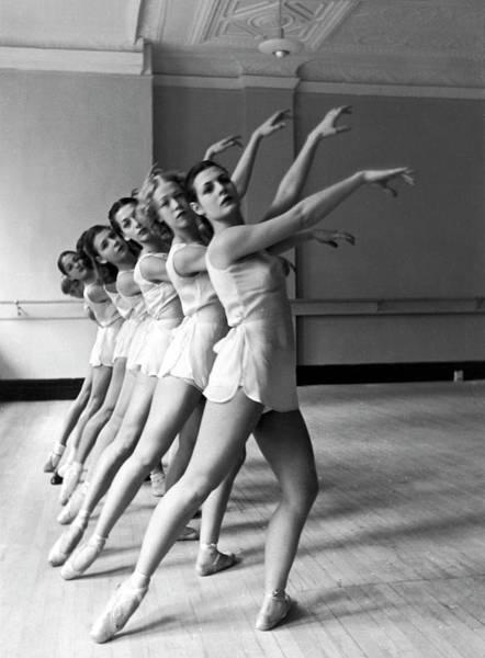 Posture Wall Art - Photograph - Dancers Ballerinas At George Balanchin by Alfred Eisenstaedt
