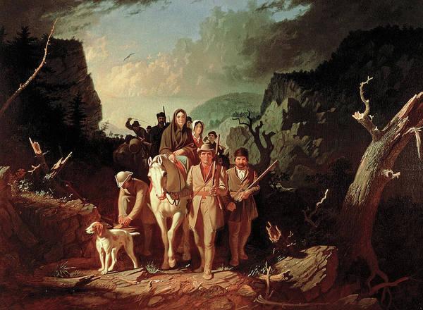 Painting - Daniel Boone Escorting Settlers Through The Cumberland Gap by George Caleb Bingham