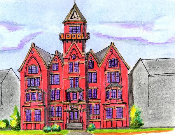 Wall Art - Drawing - Danvers State by Paul Meinerth