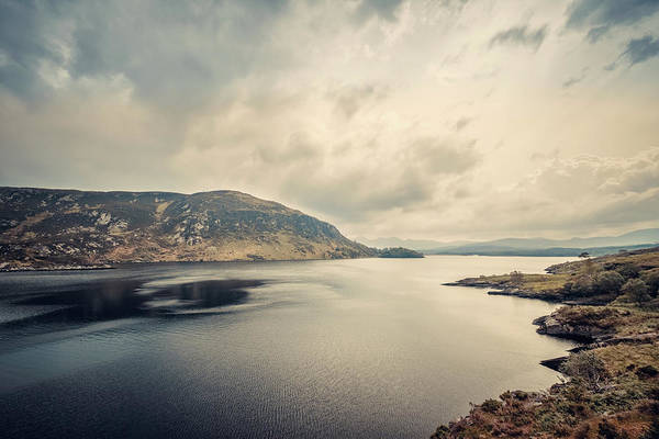 Wall Art - Photograph - Dark Clouds Over Lough Caragh In Ireland by Jon Ingall