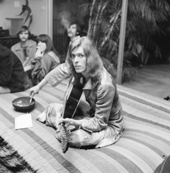 Photograph - David Bowie At Bingeheimer Party by Michael Ochs Archives