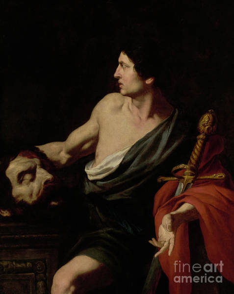 Wall Art - Painting - David With The Head Of Goliath by Pietro Novelli