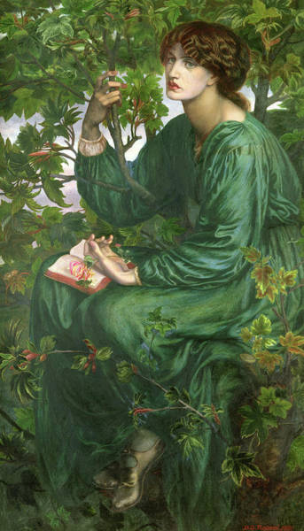 Wall Art - Painting - Day Dream by Dante Gabriel Rossetti